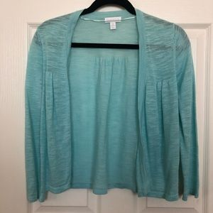 Charter club turquoise cardigan